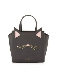 kate spade new york jazz things up hayden small cat tote bag, black Sac Kate Spade, Kate Spade Totes, Kate Spade Handbags, Tote Handbags, Tote Bags, Black Handbags, My Bags, Purses And Bags, Cat Bag