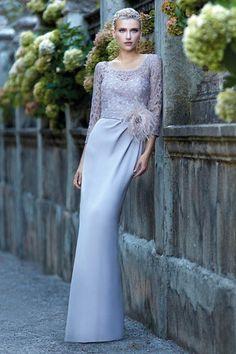 Vestido Largo modelo 93517 Carla Ruiz 2017