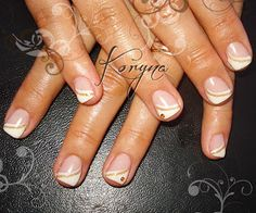 .: classic french gel nails. I like this except with silver