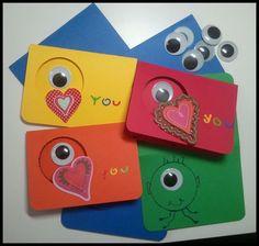 EYE HEART YOU kids Valentine's cards. $8.00, via Etsy.- get creative & Diy