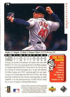 Image result for bartolo colon back of baseball card