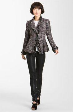 Mcginn Asymmetrical Metallic Tweed Jacket   Nordstrom  boasting a flattering peplum hem.        As seen on Extra TV and in Us Weekly