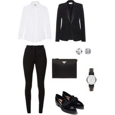 Suits by missfiery on Polyvore featuring moda, Burberry, Yves Saint Laurent, Victoria Beckham, Zara, H&M and Prada