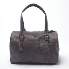 www.hogiesonline.co.uk - LEATHER BROWN CROC HANDBAG BY PUNTOTRES - PUN41, £99.00 (http://www.hogiesonline.co.uk/leather-brown-croc-handbag-by-puntotres-pun41/)