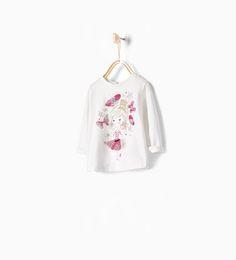 ZARA - KIDS - Tulle detail doll T-shirt