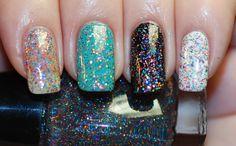 Retro Disco Glitter Nail Polish 15ml .5oz by ModLacquer on Etsy, $9.50