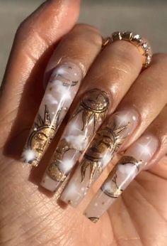 Bling Acrylic Nails, Summer Acrylic Nails, Best Acrylic Nails, Gel Nails, Coffin Nails, Summer Nails, Turquoise Acrylic Nails, Glitter Nails, Edgy Nails