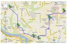 College Trip Map Creator from Go See Campus.  This is a great site for planning college trips!
