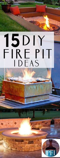 15 DIY Fire Pit Ideas for your Backyard Firepits are one of my favorite parts of summer. You can even make your own firepit. Here are 15 of my favorite backyard firepits you can complete yourself! Diy Fire Pit, Fire Pit Backyard, Backyard Patio, Backyard Landscaping, Railroad Ties Landscaping, Cool Fire Pits, Outdoor Fire, Outdoor Living, Outdoor Decor