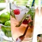 Raspberry Basil Mojitos! What a refreshing idea! More
