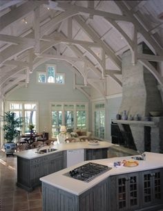 Mill Creek Timber Frame Homes, About Timber Frame, Timber Frame Kitchens
