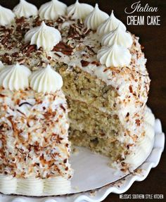 The only dessert you'll want for Easter is this Italian Cream Cake.  Our family loves this cake and it's highly recommended.