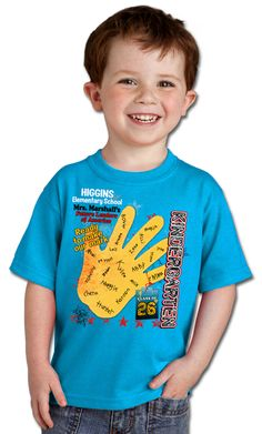 Cutest little boy in the world! Wow! I didn't know they made Kindergarten graduation shirts!