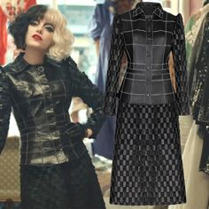 Broadway Costumes, Cool Costumes, Cosplay Costumes, Costume Ideas, Emma Stone Outfit, Cruella Deville Costume, Androgynous Fashion, Halloween Disfraces, Costume Design