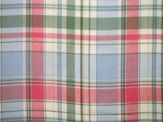 Wasque Madras Fabric by the yard SALE $3.95
