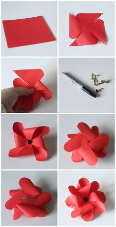 Ho to make a pinwheel poppy