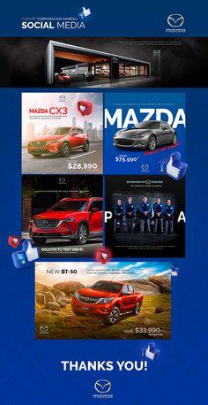 Social Media Art, Social Media Poster, Social Media Template, Social Media Design, Social Media Marketing, Mobile Marketing, Marketing Ideas, Mazda, Creative Poster Design