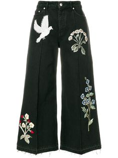 Alexander McQueen широкие джинсы с нашивками