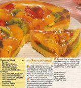 Ovocný želé dortík