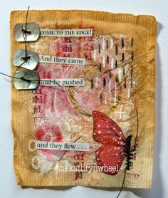 The Kathryn Wheel: Time for Tea! Tea Bag Art, Tea Art, Quote Collage, Collage Art, Collages, Tee Kunst, Tea Stained Paper, Art Journal Pages, Junk Journal