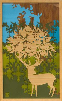 Sigrid Spier - Koning - #grafiek. Sigrid Spier is gefascineerd door de natuur. In haar werkt gebruikt ze vormen en patronen uit de natuur die ze verwerkt in verschillende lagen gesneden papier. Ook gebruikt ze hierbij #onverwachte materialen zoals stickers en folie.--- Sigrid Spier - King - papercutting. Sigrid Spier is fascinated by nature. In her work she uses patterns and colors, and she creates an image out of several layers of paper.