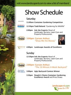 Landscape and Garden Show, this weekend in St. John's, Newfoundland