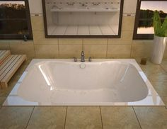 Drop In Bathtub, Bathtub Drain, Soaking Bathtubs, Whirlpool Bathtub, Jetted Bathtub, Jacuzzi, Attic Bathroom, Bathroom Tubs, Bathroom Ideas
