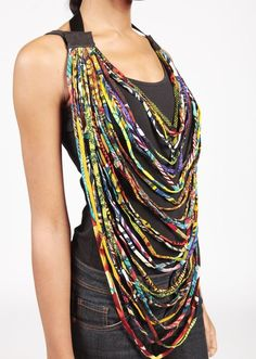 Make multiple ropes for a chic and unique look A new trend in fashion is the ankara (african fabric) rope necklace. Ankara is a traditional fabric that is used in many different fashion accessories...