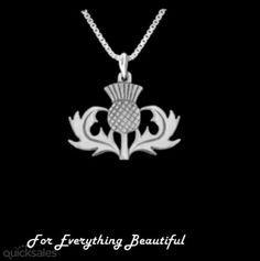 Oban Thistle Scotland Themed Antiqued Sterling Silver Pendant by JB7339 - $35.00