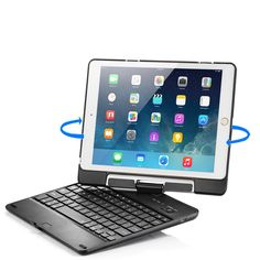 iPad Air 2 Keyboard Case, iPad Air Keyboard Case, New Trent Airbender Star with Detachable Wireless Bluetooth Smart Keyboard for the Apple iPad Air/iPad Air 2 2015 Release - New Release Tablets And Tablet Accessories