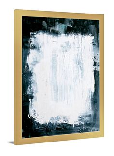 Reverse Splotch abstract canvas art by Lindsay Letters.