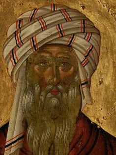 Saint John of Damascus Byzantine Icons, Byzantine Art, Face Icon, Russian Icons, High Art, Orthodox Icons, Christian Art, Fresco, Christianity