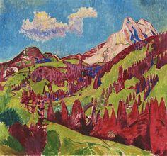Cuno Amiet (Swiss, 1868-1961), Gummfluh, 1921. Oil on canvas, 91 x 98cm.