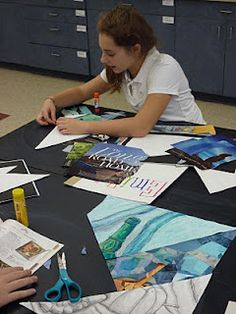 The Calvert Canvas: Adventures in Middle School Art!: Projects in Progress Middle School Art Projects, Art School, School Stuff, Drawing Projects, Drawing Lessons, 7th Grade Art, Sixth Grade, Second Grade, Intro To Art
