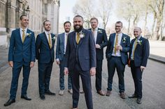 Dapper chaps for a London Riverside Wedding. Images by Jacqui McSweeney Photography