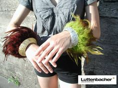Geraldine Luttenbacher - Bracelets en noix de coco & plumes - 2014