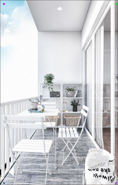 Modern Scandinavian Design for Home Interior Completed with Kids Room Design Small Balcony Design, Small Balcony Decor, Terrace Design, Small Patio, Apartment Interior Design, Interior Design Living Room, Apartment Ideas, Room Deco, Scandinavian Design