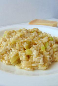 Risotto de puerros y calabacín: un risotto saludable con verduras