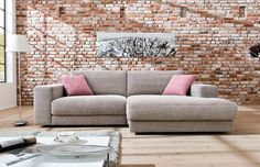 Ecksofa Kingston von Candy in Taupe