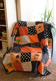 Simplified Rag Blanket with Fleece Backing | Over The Big Moon