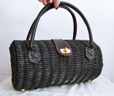 Adorable Vintage purse, now on sale!  https://www.etsy.com/listing/190317945/free-ship-black-wicker-barrel-purse?ref=shop_home_active_14