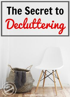 Great tip on the secret to decluttering! Not what I would have thought.