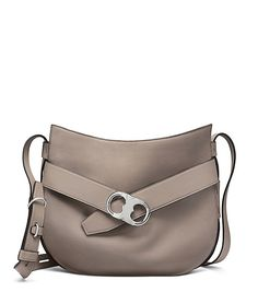 Tory Burch Gemini Link Shoulder Bag Shown in French Gray $595, Fall 2016