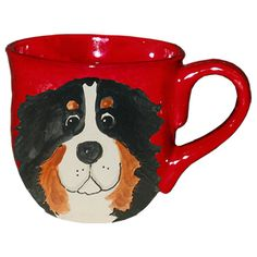 Shop for dog on Etsy, the place to express your creativity through the buying and selling of handmade and vintage goods. Bernese Mountain, Mountain Dogs, Animation, Unique Coffee Mugs, 2d Art, Blossom Flower, Dog Photos, All Dogs, Some Pictures