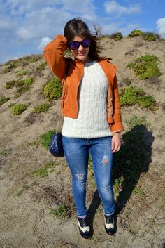 Look with  jewelry by Bonnyrabbit,and Sweater Jacket by Shein
