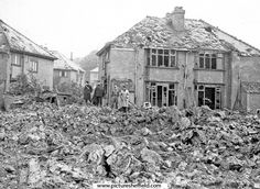 Bomb damage , Clifton park area,second world war.