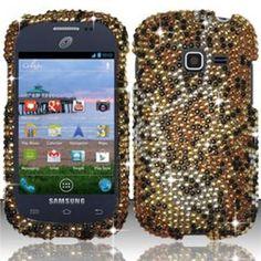 INSTEN Full Diamond Design Case Cover - Cheetah For Samsung Galaxy DisCase Cover S730g/Galaxy Centura S738c