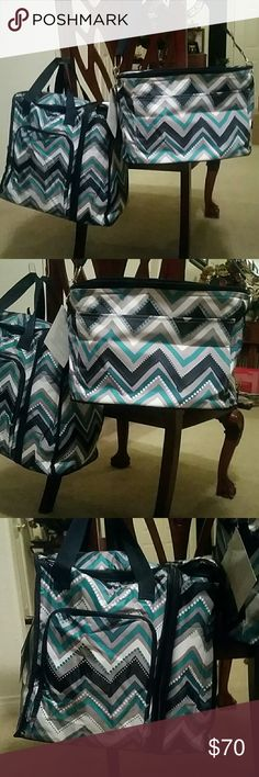 NWT Thirty One Thermal Bundle NWT Thirty One Thermal Bundle in Dotty Chevron  Bundle Includes:  Family Fun Thermal $48 On The Double Set $88 ( Hostess Exclusive )  Smoke Free & Pet Free Home All Reasonable offers accepted Thirty One Bags