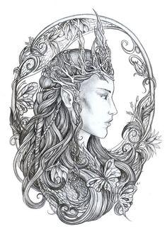 Elven Queen by *jankolas on deviantART