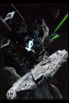 Millennium Falcon en el cinturón de asteroides: